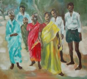 Dorfbewohner bei Aurangabad