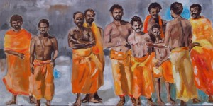 Pilger in Hampi