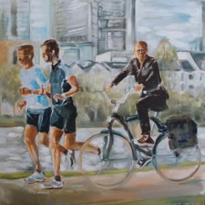 Radfahrer am Mainkai