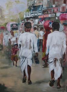 Straßenszene Provinz Karnataka