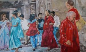 Tempelbesucher in Ashanta