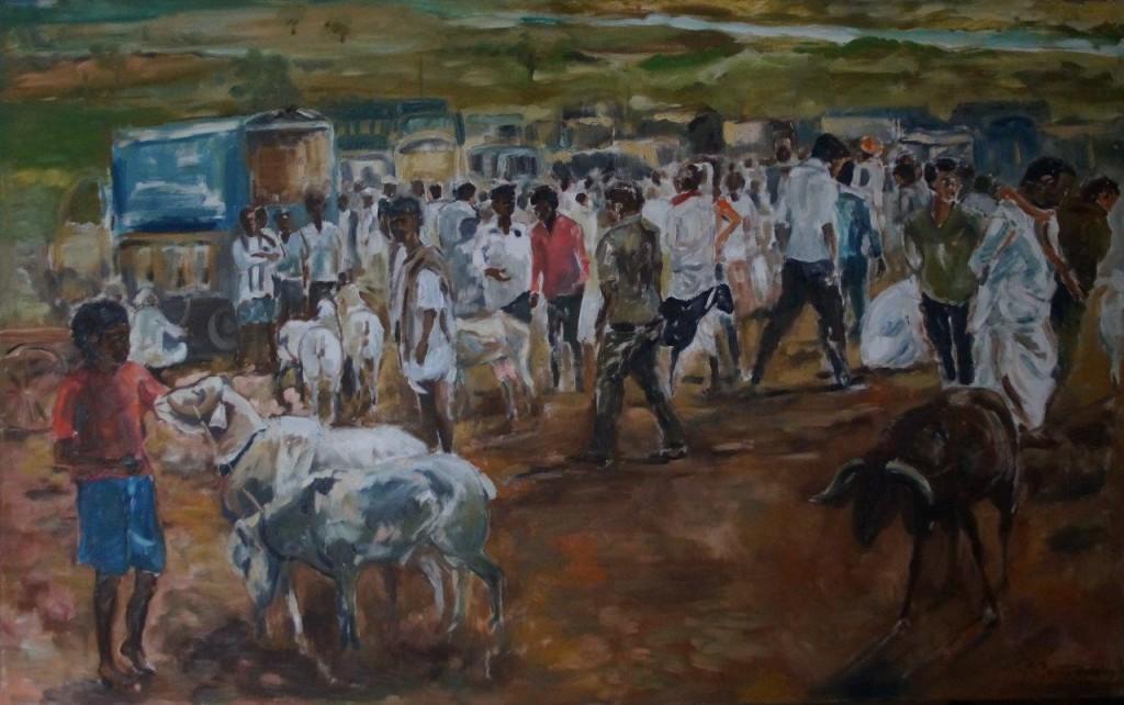 Ziegenmarkt in Indien