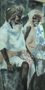 Zwei Alte in Libyen