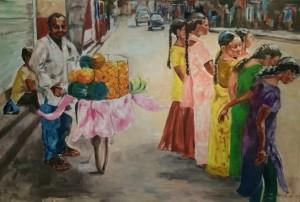 Früchteverkäufer