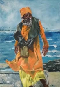 Sadhu am Meer